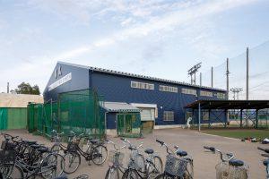 聖光学院野球部室内練習場